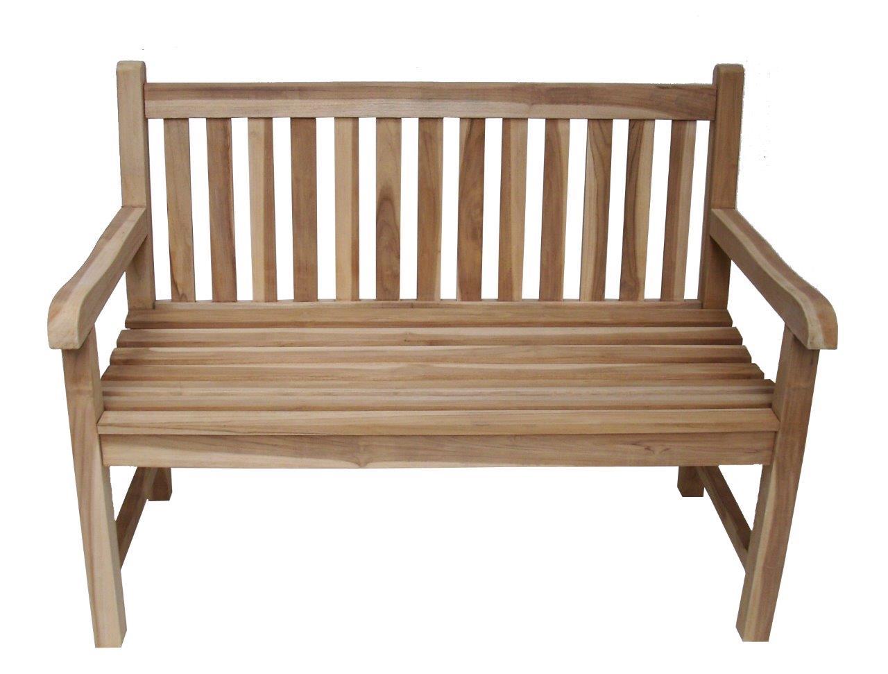 2sitzer teakholz bank massivholz holzbank gartenbank 120 cm teakbank parkbank ebay. Black Bedroom Furniture Sets. Home Design Ideas