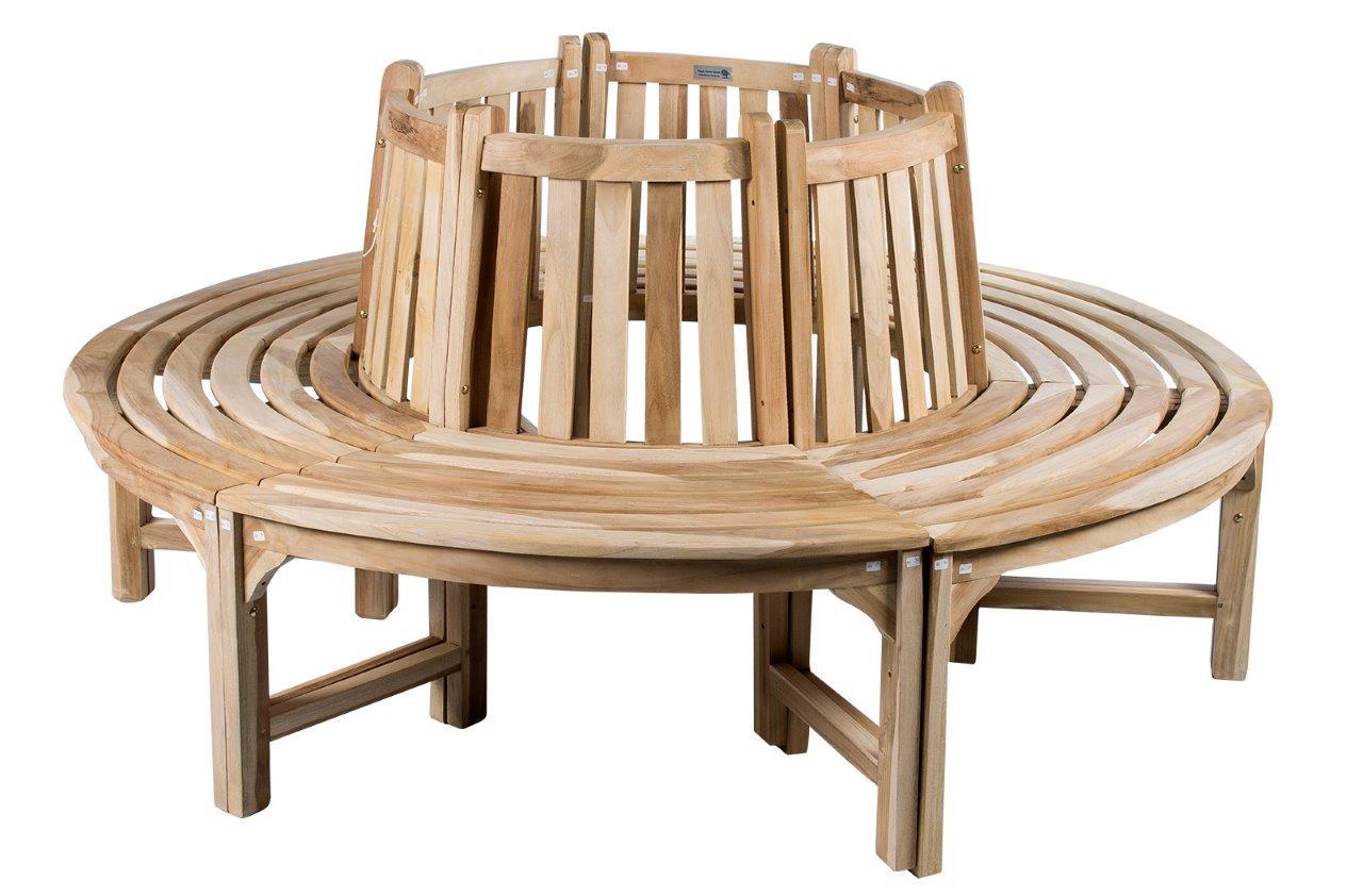 baumbank teakbank rundbank 180 cm rund teakholz holzbank. Black Bedroom Furniture Sets. Home Design Ideas