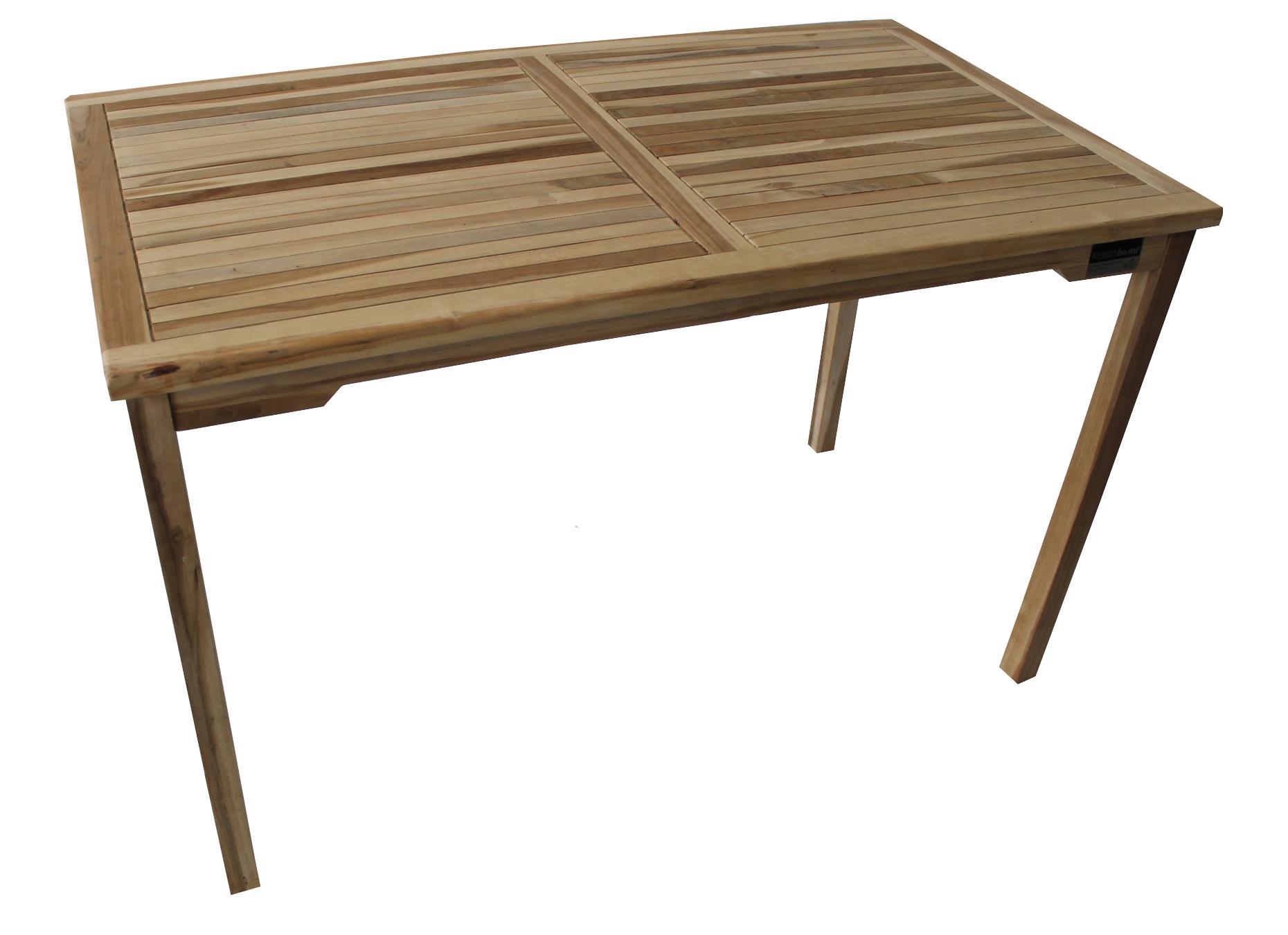 teak tisch kansas eckig 120x70x75 cm gartentisch holztisch. Black Bedroom Furniture Sets. Home Design Ideas