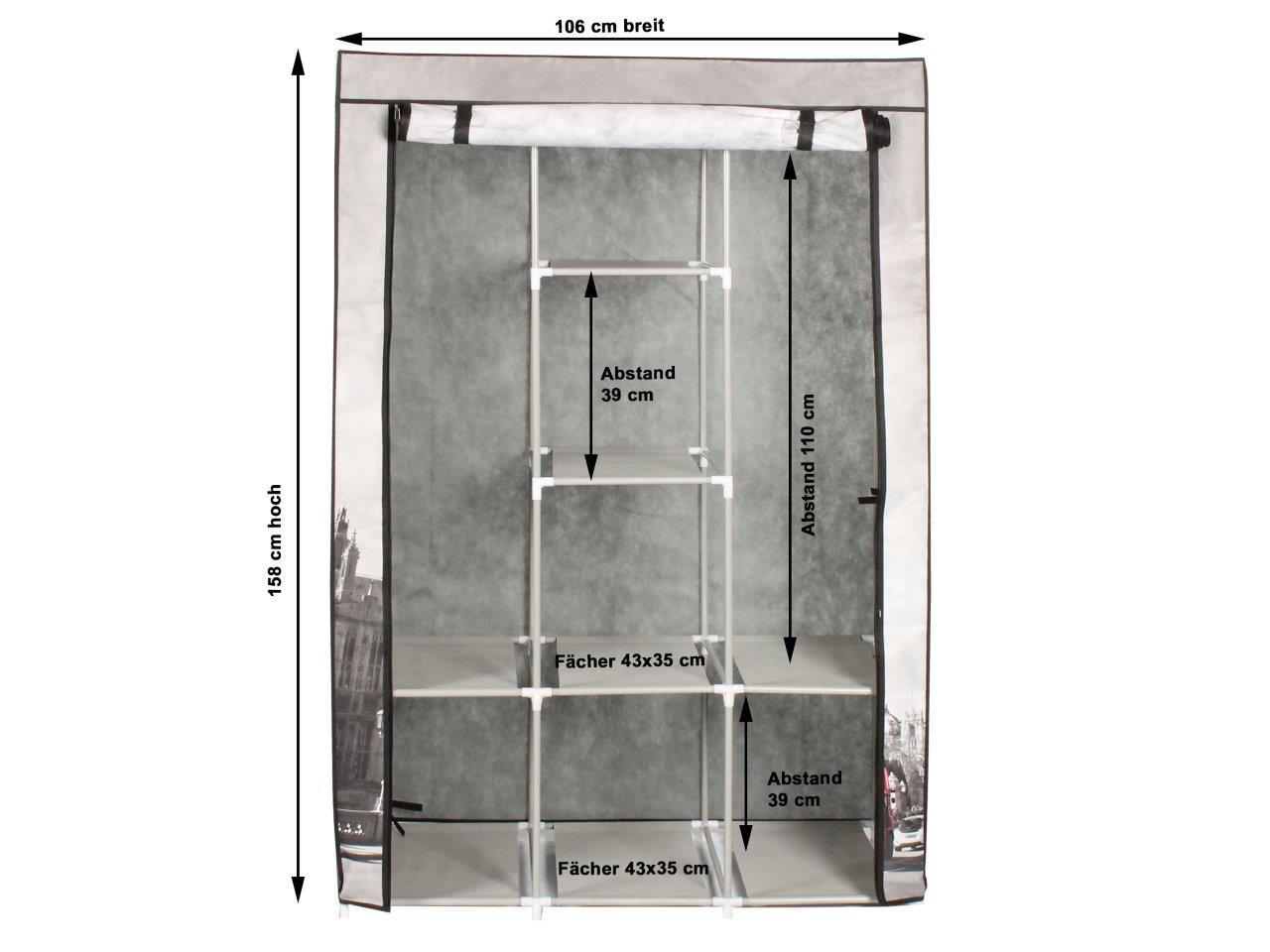 stoffschrank kleiderschrank roter telefonzelle london 6. Black Bedroom Furniture Sets. Home Design Ideas