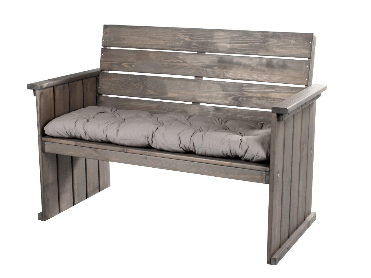 massive bank 130cm massivholz taupe strandgut europa gartenm bel holzbank neu ebay. Black Bedroom Furniture Sets. Home Design Ideas