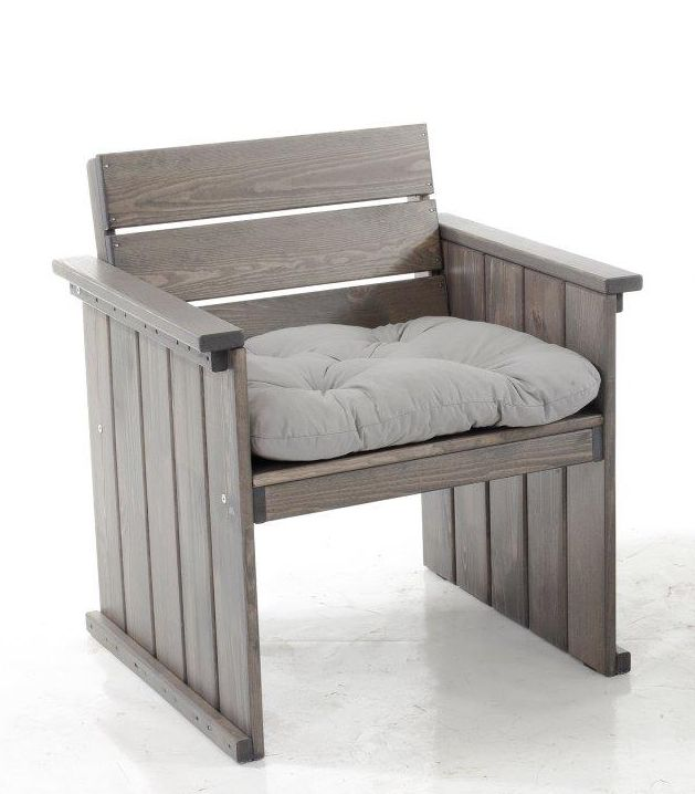 massiver sessel massivholz taupe strandgut europa gartenm bel holz stuhl ebay. Black Bedroom Furniture Sets. Home Design Ideas