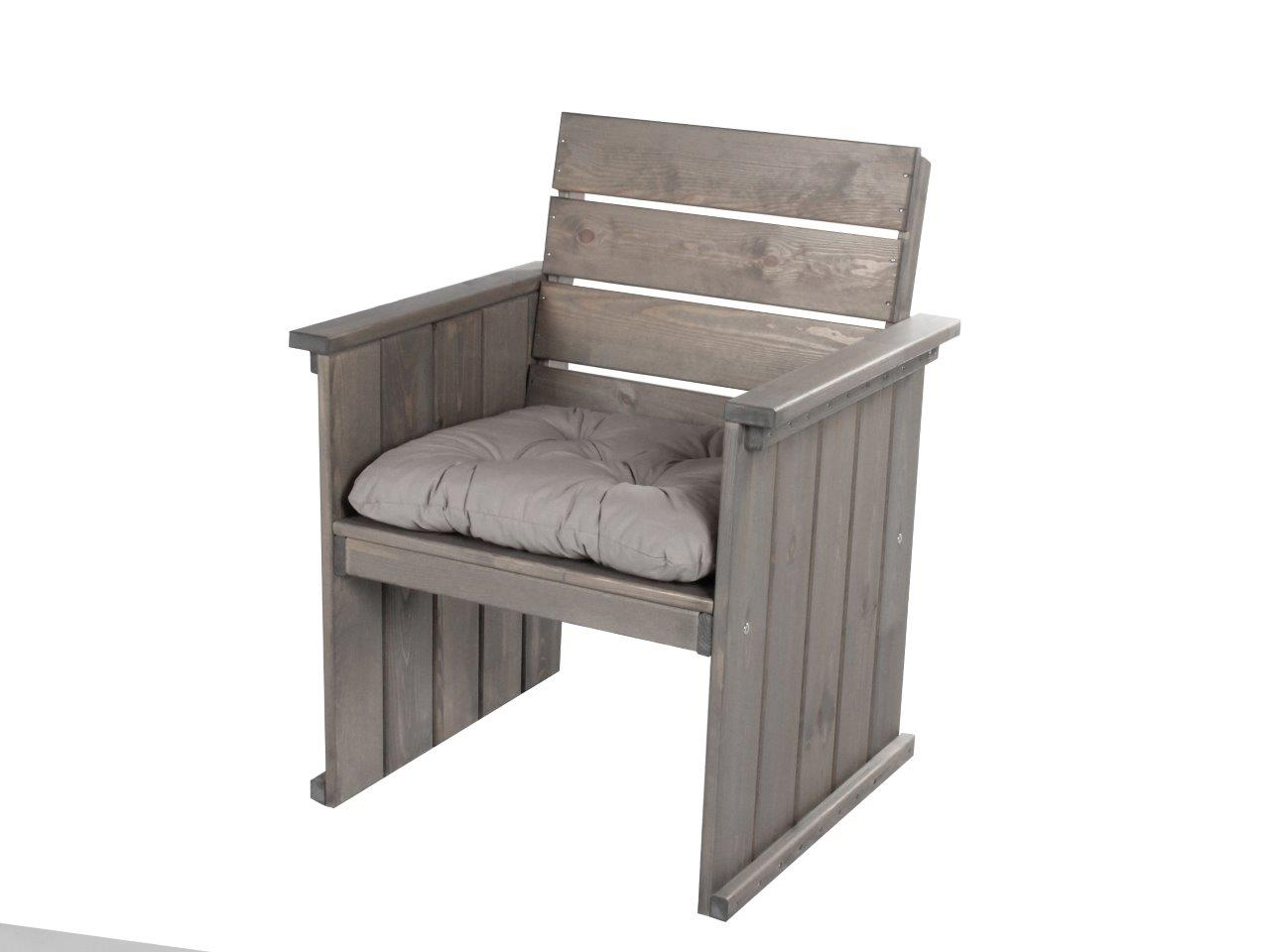 massiver sessel massivholz taupe strandgut europa gartenm bel holz stuhl neu. Black Bedroom Furniture Sets. Home Design Ideas